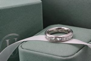 SALENTO Channel Set Princess & Baguette Cut Full Diamond Wedding Rings