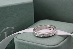 AMALFI Channel Set Baguette Cut Full Diamond Wedding Rings