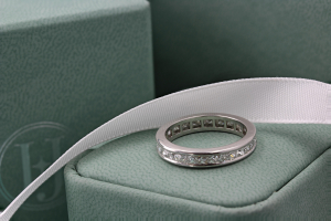 RAVENNA Channel Set French Cut Commitment Rings