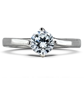 SOPHIE Brilliant Cut Solitaire Twist Ring