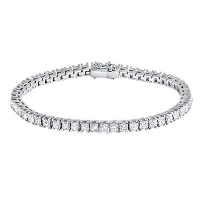 Princess Cut Diamond Tennis Bracelet From Hatton Jewels